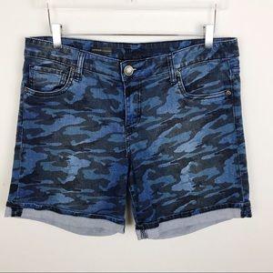 Kut From Kloth Catherine Camo Boyfriend Shorts 12